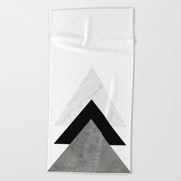 Arrows Monochrome Collage Beach Towel