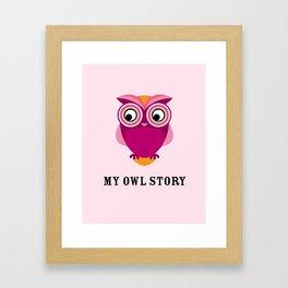 My owl story Framed Art Print