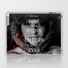 She has fire in her veins and embers in her eyes Laptop & iPad Skin