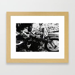 Dirt Bike Star - Motocross Racing Framed Art Print