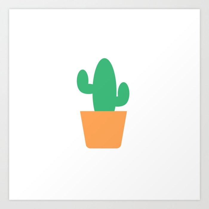 Just a Little Cactus Art Print