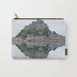 Mirrored landscape 1 Mont-Saint-Michel Carry-All Pouch
