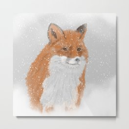 Winterfox Metal Print