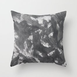 White Chalk and Black Ink Throw Pillow