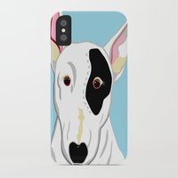 bull terrier iPhone & iPod Cases featuring Bull Terrier by EloiseArt