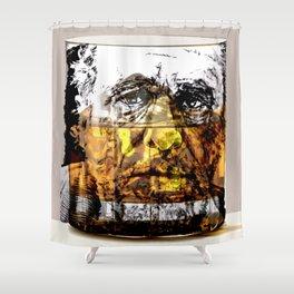 BUKOWSKI about drinking Shower Curtain