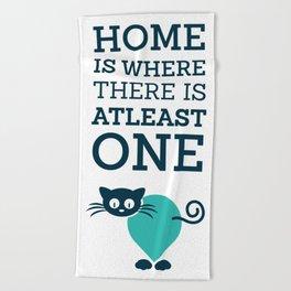 home is where Beach Towel