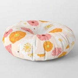 Coral Bloom Floor Pillow