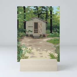 Pinewoods Cabin Mini Art Print