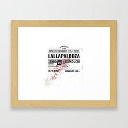 Lallapalooza Poster Framed Art Print