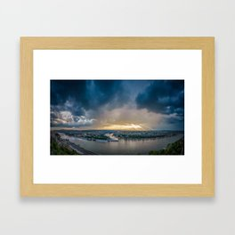 Koblenz panoramic shot after rain Framed Art Print