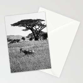Impala in the grass Stationery Cards