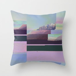 Freeze Dried Mountains Throw Pillow