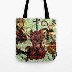 Mint Strings Tote Bag