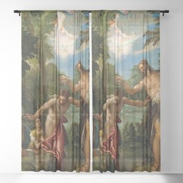 "Veronese (Paolo Caliari) ""The Baptism of Christ"" Sheer Curtain"
