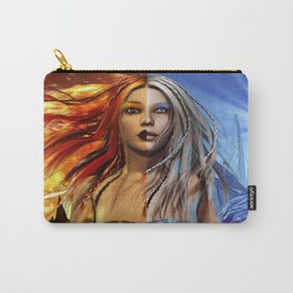 Fire and Ice Fantasy Art Carry-All Pouch