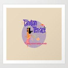 Tahitian Terrace Art Print