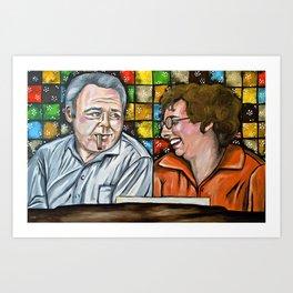 Archie & Edith Bunker  Art Print
