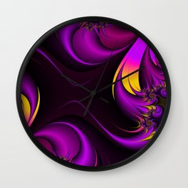 Purple Fire Wall Clock