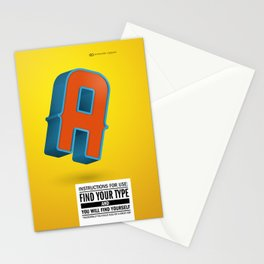 Find your TYPE Stationery Cards