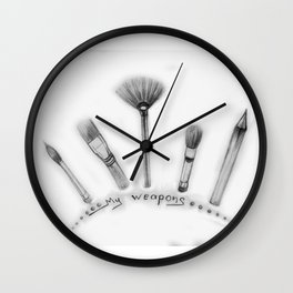 My weapons Wall Clock