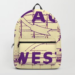 Western Auto Neon Sign In Downtown Kansas City Backpack