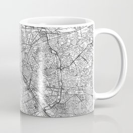 Paris Map Line Coffee Mug