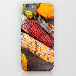 Squash And Indian Corn iPhone Case