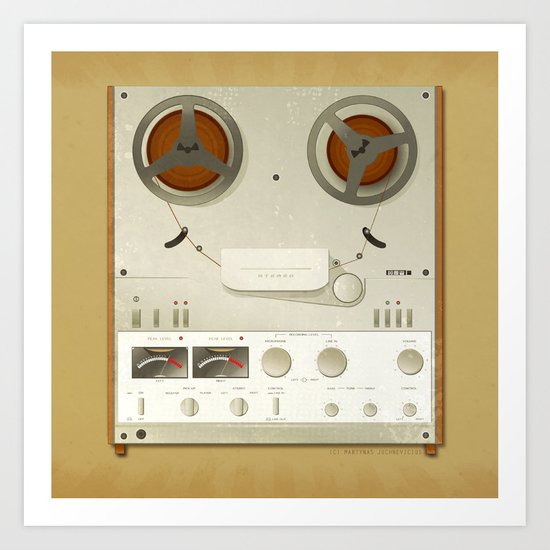 REEL TO REEL Art Print