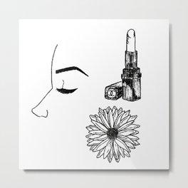 JUST A LADY Metal Print