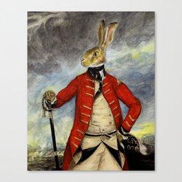Military Hare, Basil Stag Hare art print Canvas Print