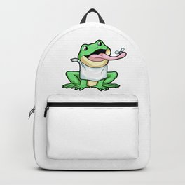 Frog with Tongue out Backpack