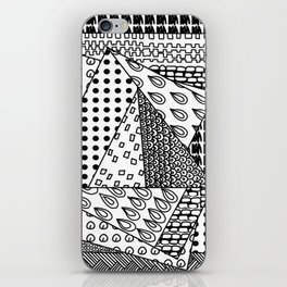 simple doodles in the square . iPhone Skin