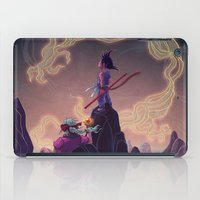 dragonball z iPad Cases featuring Dragonball - The Journey Begins by Kim Herbst