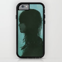 She's flying by again. iPhone Case