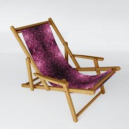 Beautiful Dark Pink glitter sparkles Sling Chair