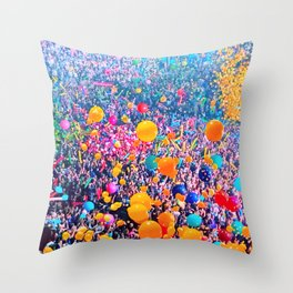 Send in the Clones, Balloon Drop NYE Throw Pillow