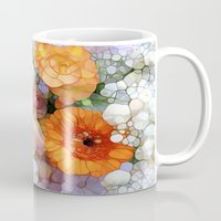 fantasy Mugs featuring Joy is not in Things, it is in Us! by Joke Vermeer