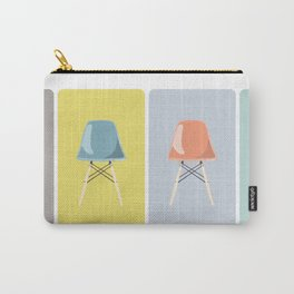 Colored Mid-Century Chairs Carry-All Pouch