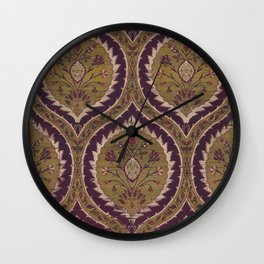 Antique Floral Textile Wall Clock