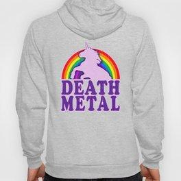 Funny Death Metal Unicorn Rainbow T-Shirt Hoody