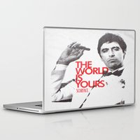 scarface Laptop & iPad Skins featuring SCARFACE by I Love Decor