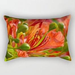 Red flame tree 290 Rectangular Pillow