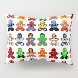 Superhero Gingerbread Man Pillow Sham