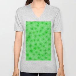 Green Fuzzball Abstract Unisex V-Neck