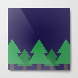 Blue Treescape Metal Print