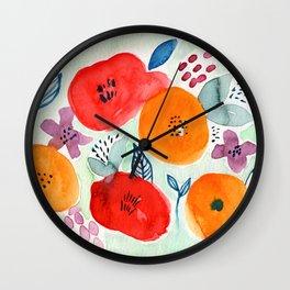 Abstract Garden No. 1 Wall Clock
