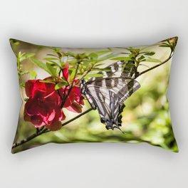 Butterfly on an Azalea Rectangular Pillow