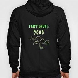 Fart Level 9000 Fart Funny Farting Funny slogan Hoody