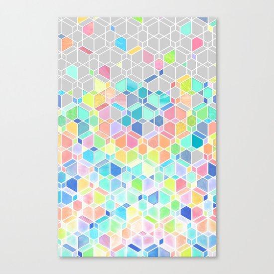 Rainbow Cubes & Diamonds Canvas Print